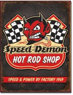 Placa Speed Demon Hot Rods