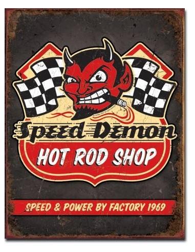 Placa Speed Demon Hot Rods