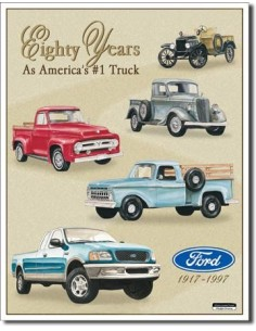Placa Ford Trucks - 80 Yr Tribute