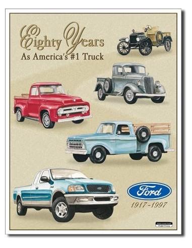 Placa Ford Trucks - 80 Yr Tribute