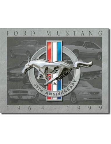 Placa Mustang 35th Anniversary