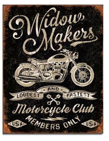 Placa Widow Maker's Cycle Club