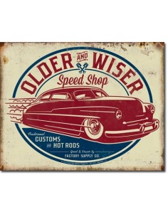 Placa Older & Wiser - 50's Rod