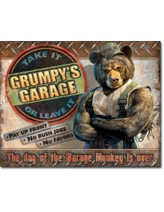 Placa Grumpy's Garage
