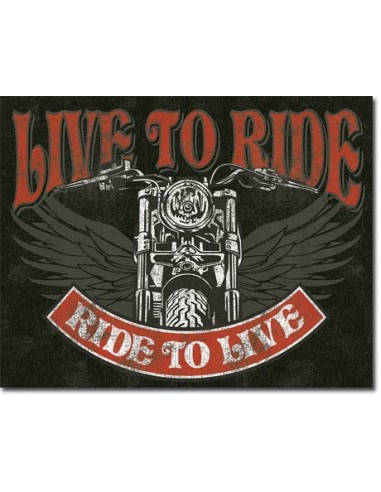 Placa Live to Ride - Bike