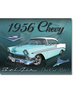Placa Chevy 1956 Bel Air