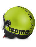 Casco Momo Design Fighter Fluo Amarillo Mate Letras Negro