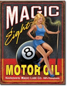 Placa Magic Eight Motor Oil