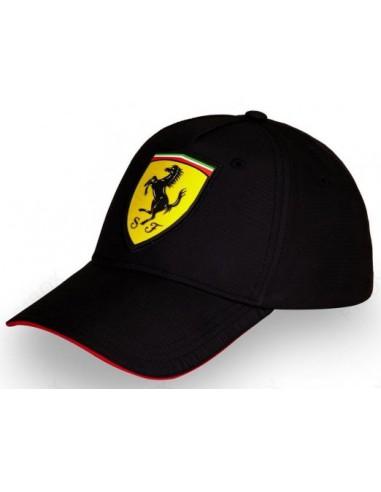 Gorra Ferrari Niño Scudetto Classic Negro