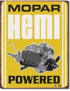 Placa Mopar Hemi Powered