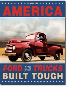 Placa Ford Trucks Built Tough
