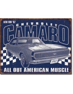 Placa Camaro 1967 Muscle