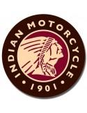 Placa Indian Logo Round